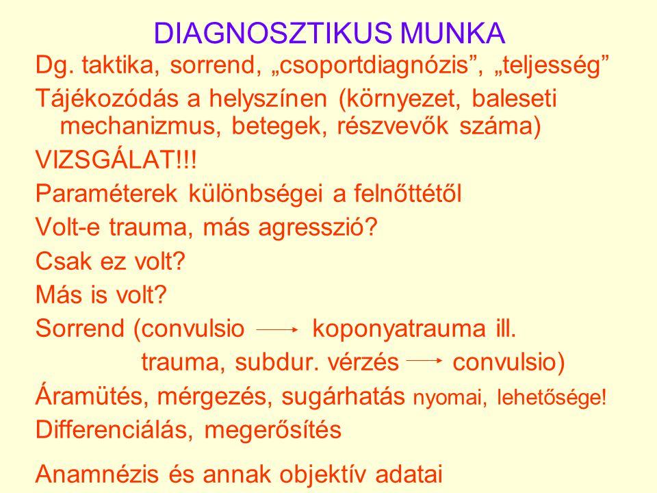 """DIAGNOSZTIKUS MUNKA Dg. taktika, sorrend, """"csoportdiagnózis , """"teljesség"""
