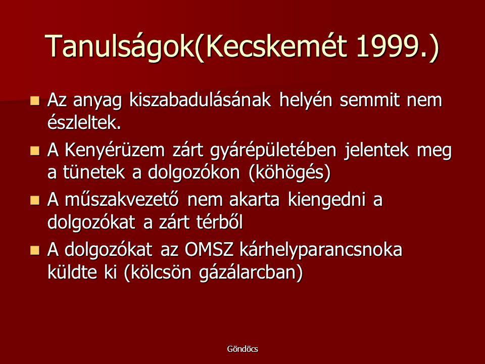 Tanulságok(Kecskemét 1999.)