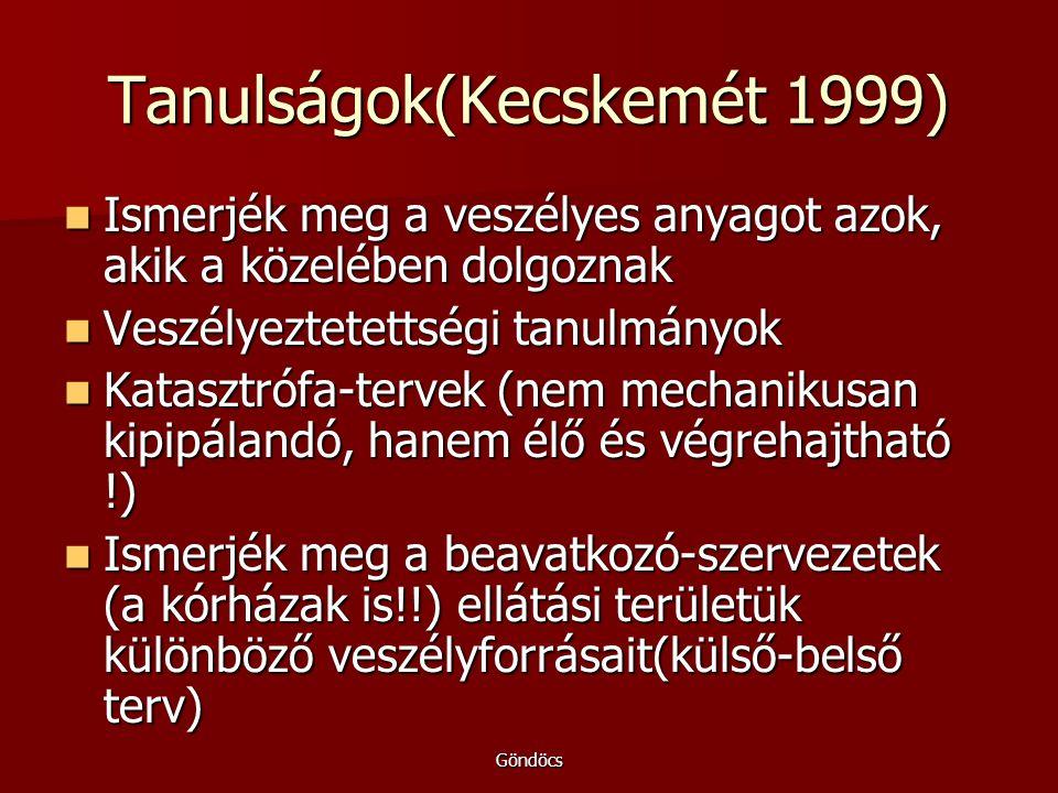 Tanulságok(Kecskemét 1999)