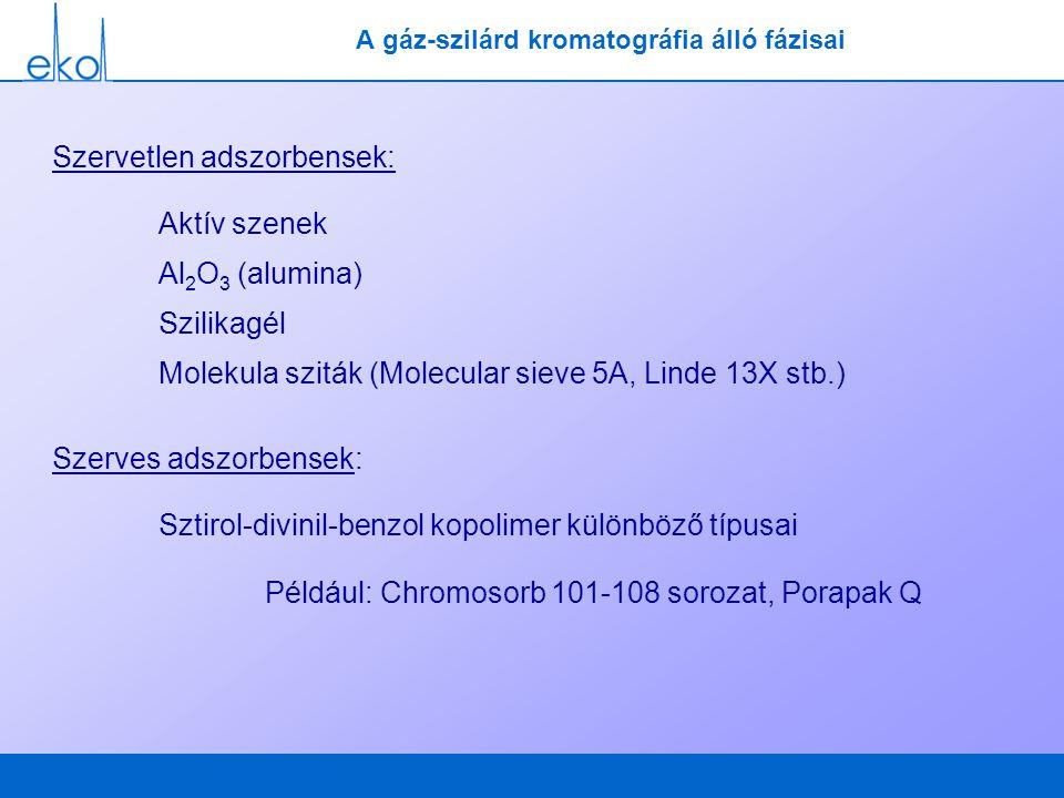 A gáz-szilárd kromatográfia álló fázisai