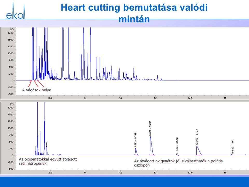 Heart cutting bemutatása valódi mintán