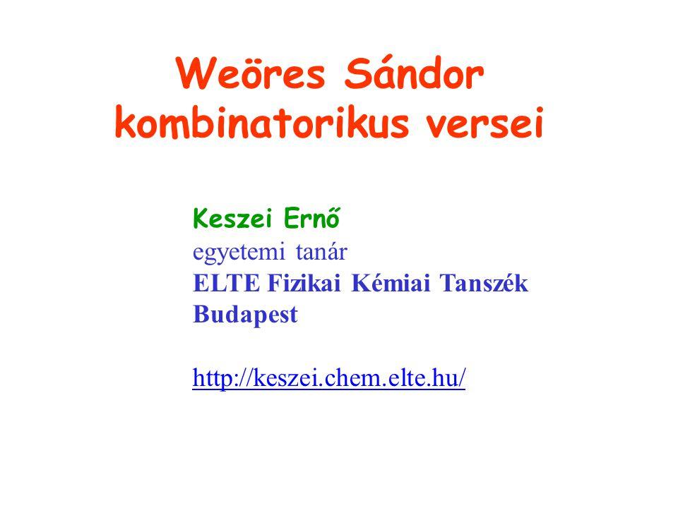 Weöres Sándor kombinatorikus versei