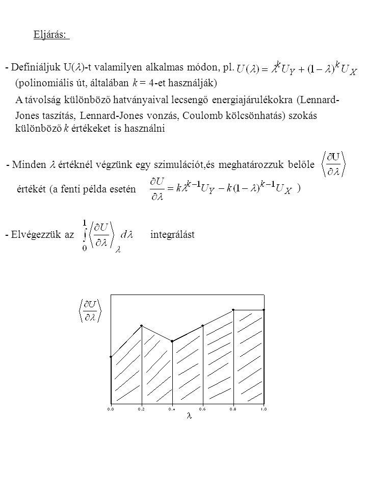 Eljárás: - Definiáljuk U(l)-t valamilyen alkalmas módon, pl. (polinomiális út, általában k = 4-et használják)