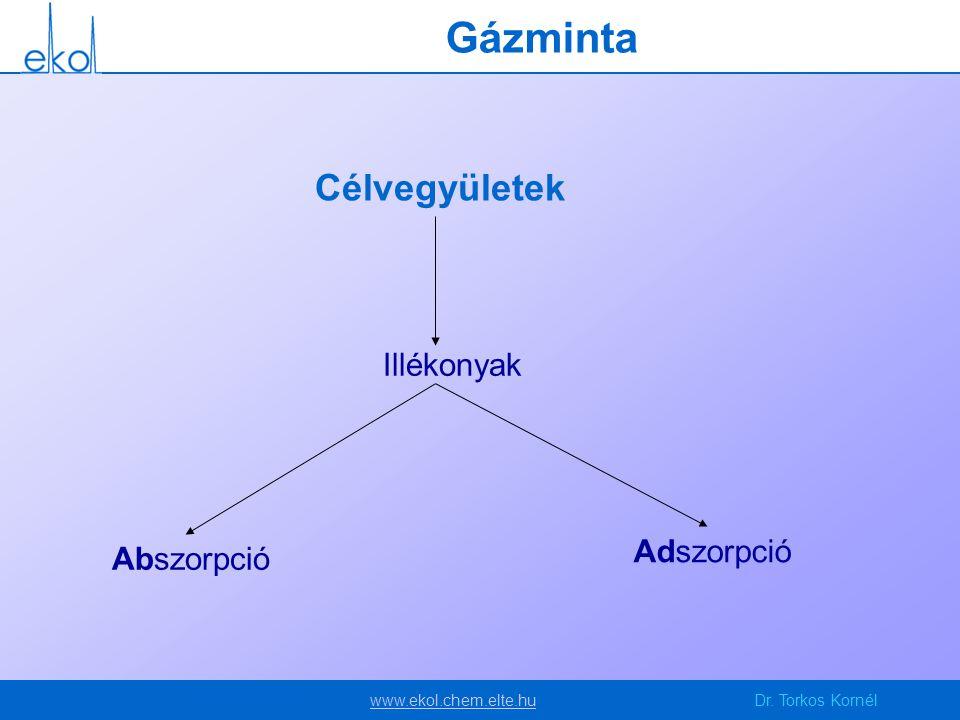 Gázminta Célvegyületek Illékonyak Adszorpció Abszorpció