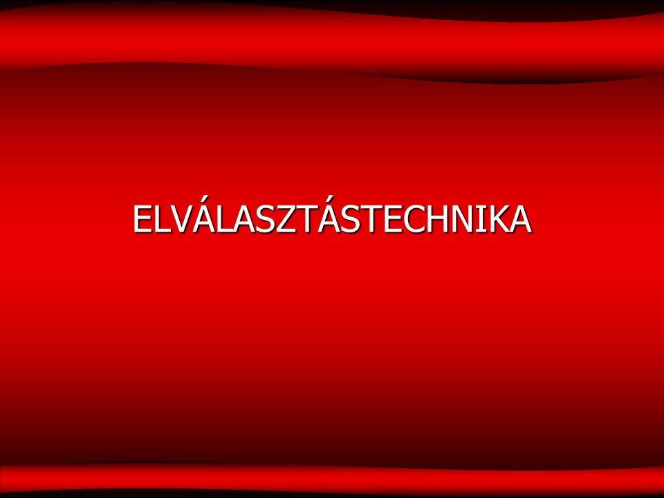ELVÁLASZTÁSTECHNIKA 1