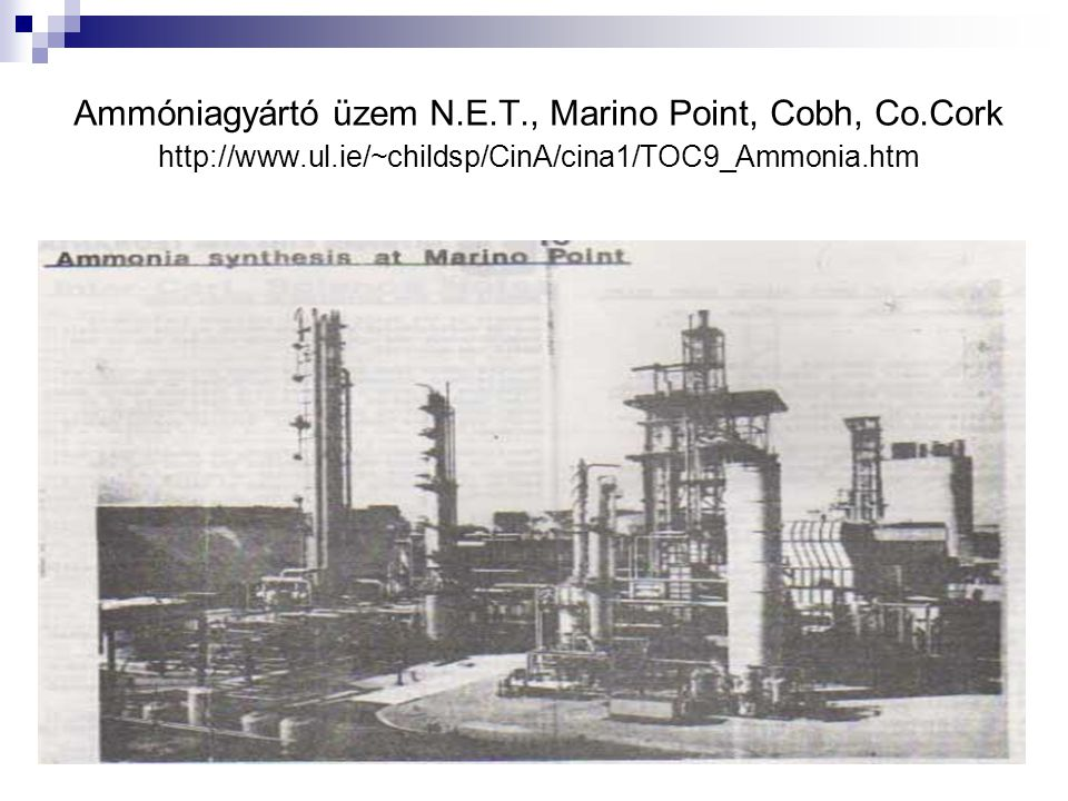 Ammóniagyártó üzem N. E. T. , Marino Point, Cobh, Co. Cork http://www