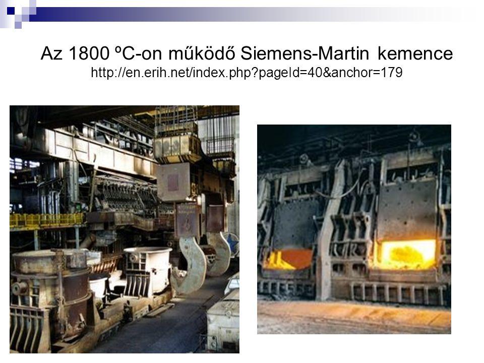 Az 1800 ºC-on működő Siemens-Martin kemence http://en. erih. net/index