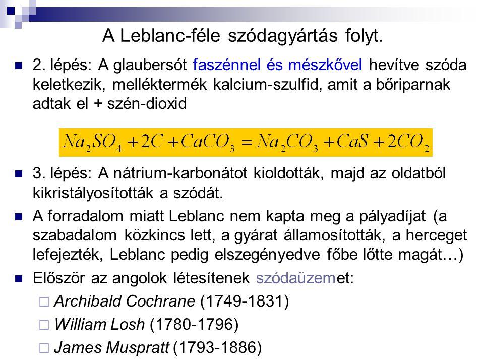 A Leblanc-féle szódagyártás folyt.