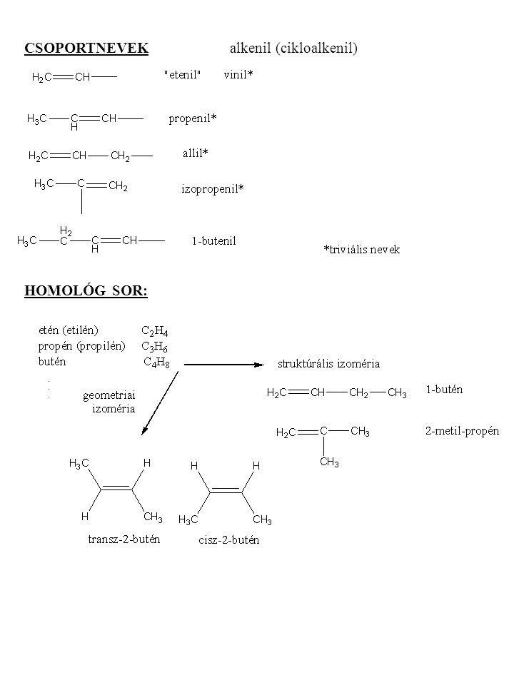 CSOPORTNEVEK alkenil (cikloalkenil)