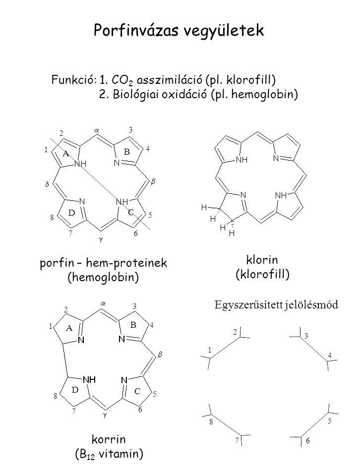 porfin – hem-proteinek