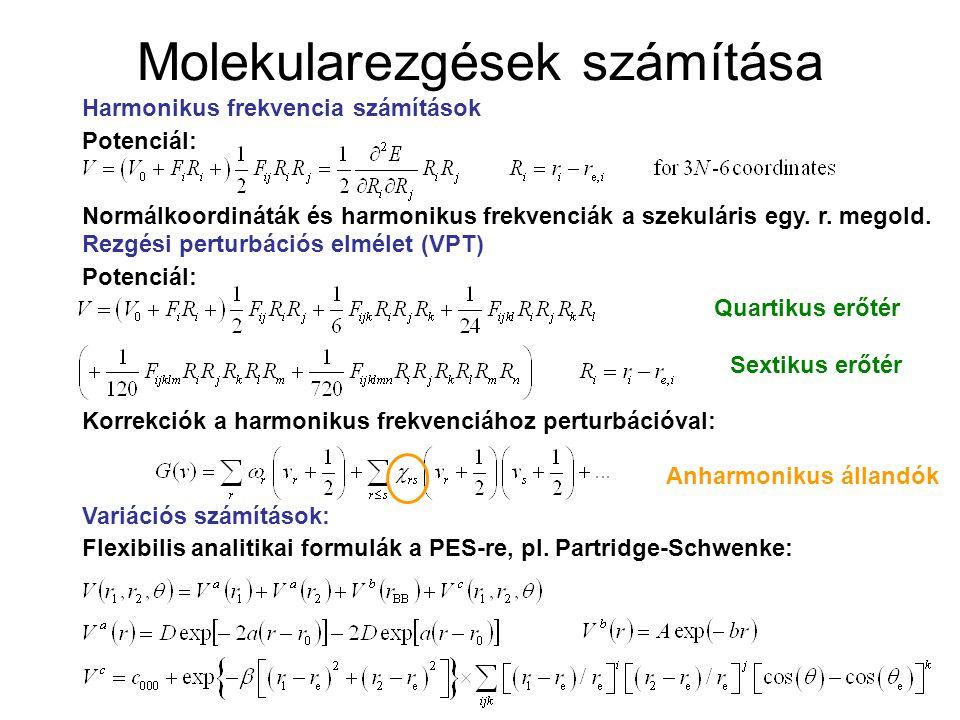Molekularezgések számítása