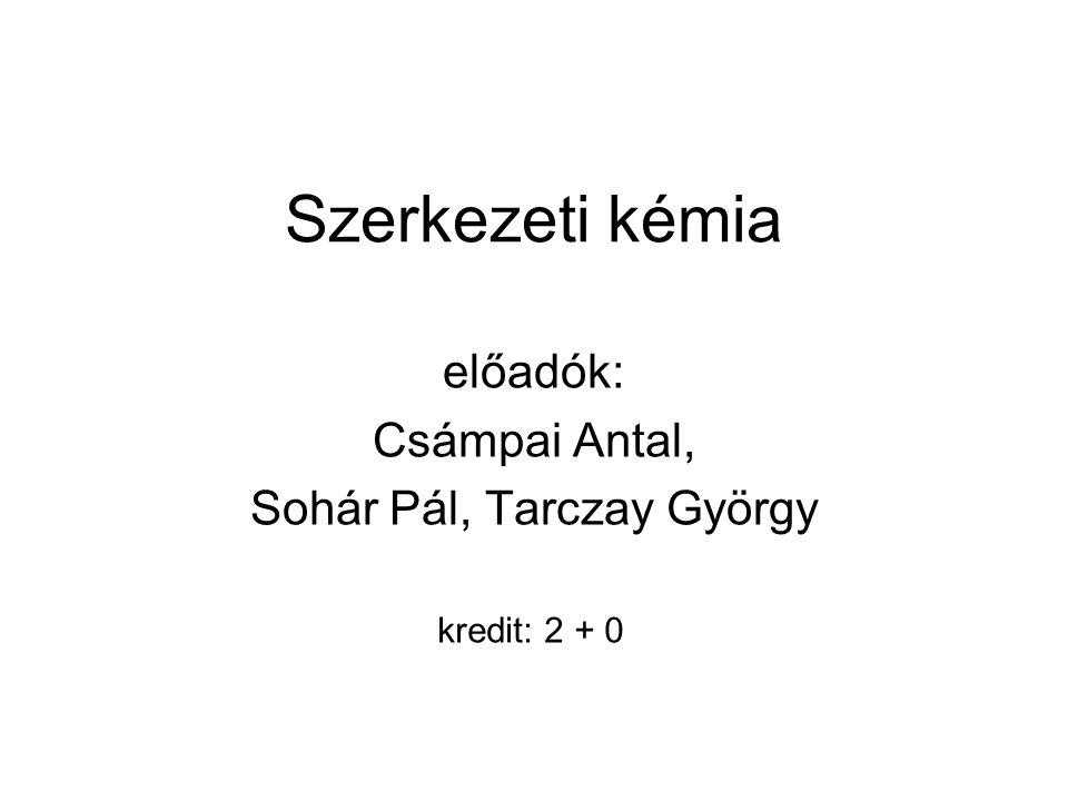 előadók: Csámpai Antal, Sohár Pál, Tarczay György