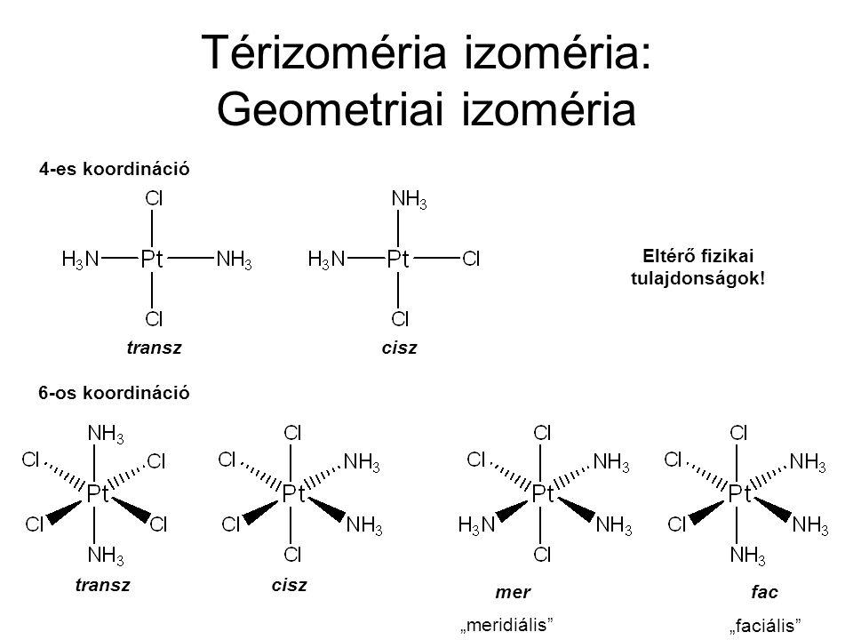 Térizoméria izoméria: Geometriai izoméria
