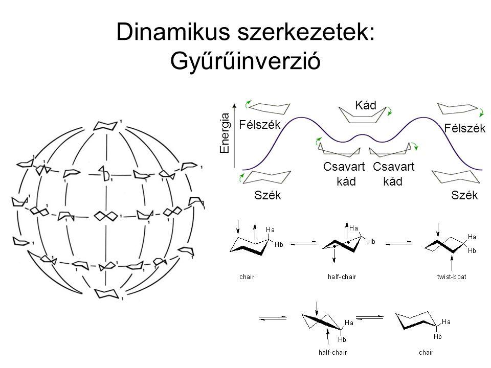 Dinamikus szerkezetek: Gyűrűinverzió