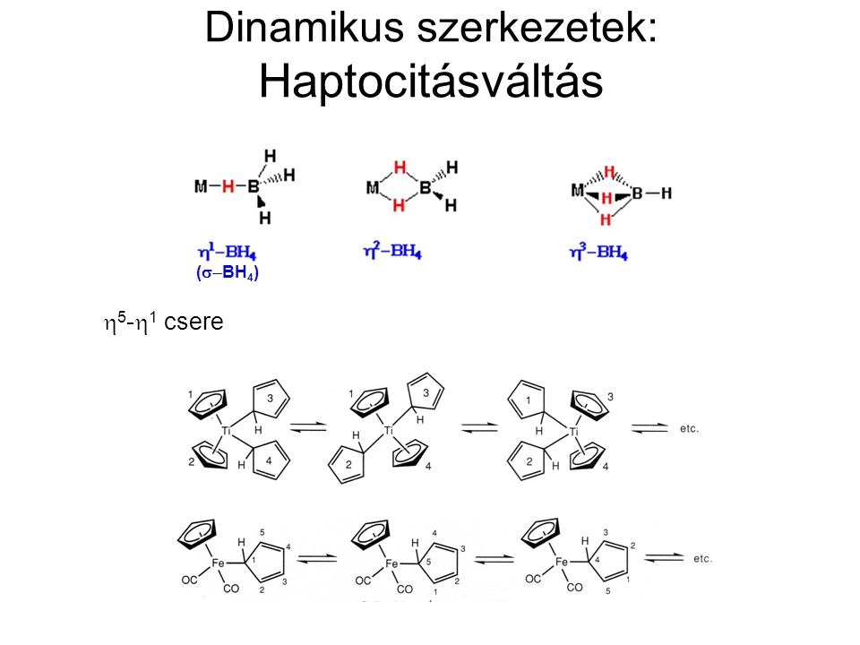 Dinamikus szerkezetek: Haptocitásváltás