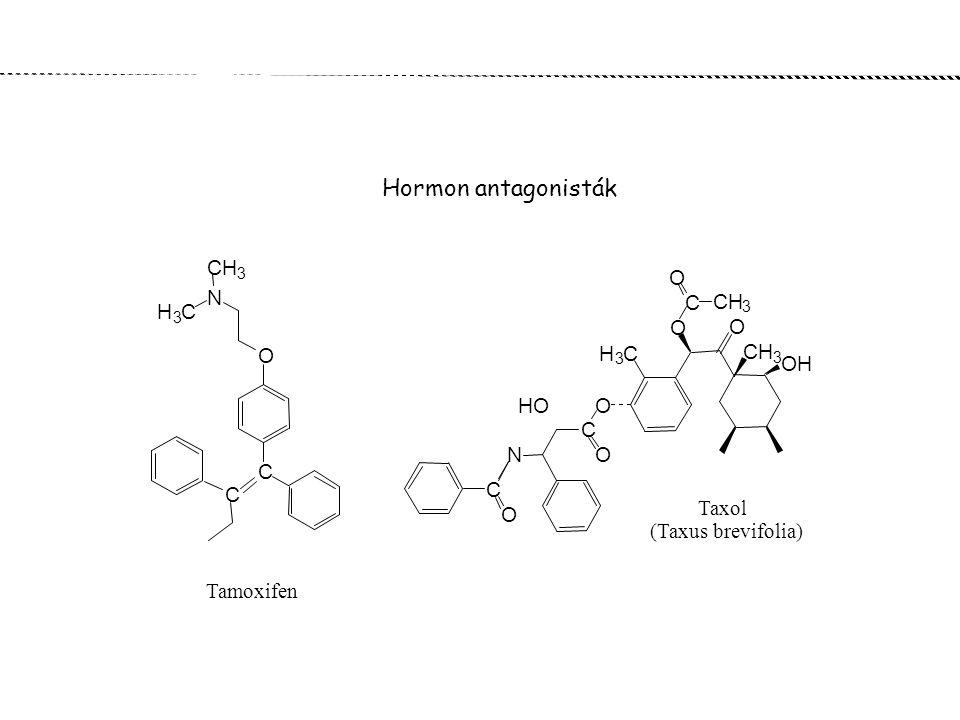 Hormon antagonisták CH N H O OH HO C Taxol (Taxus brevifolia)