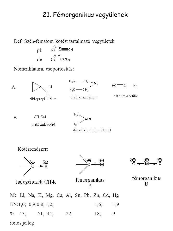 21. Fémorganikus vegyületek