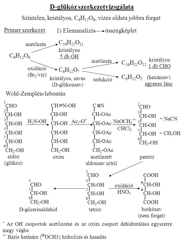 D-glükóz szerkezetvizsgálata