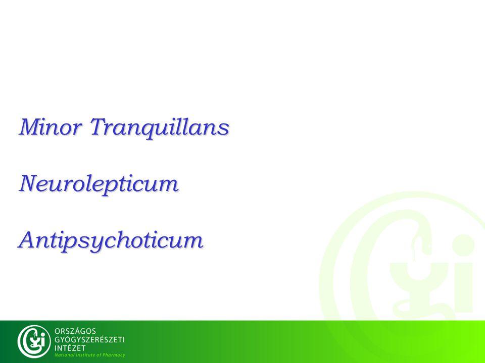 Minor Tranquillans Neurolepticum Antipsychoticum