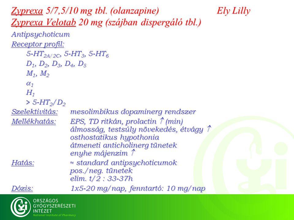 Zyprexa 5/7,5/10 mg tbl. (olanzapine)