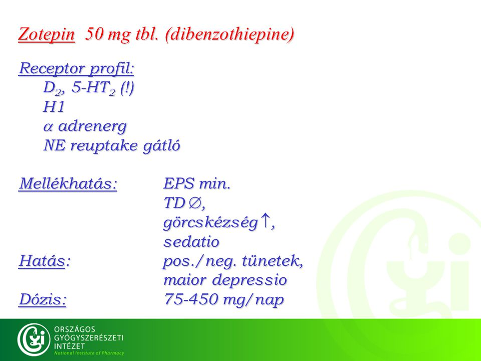 Zotepin 50 mg tbl. (dibenzothiepine)