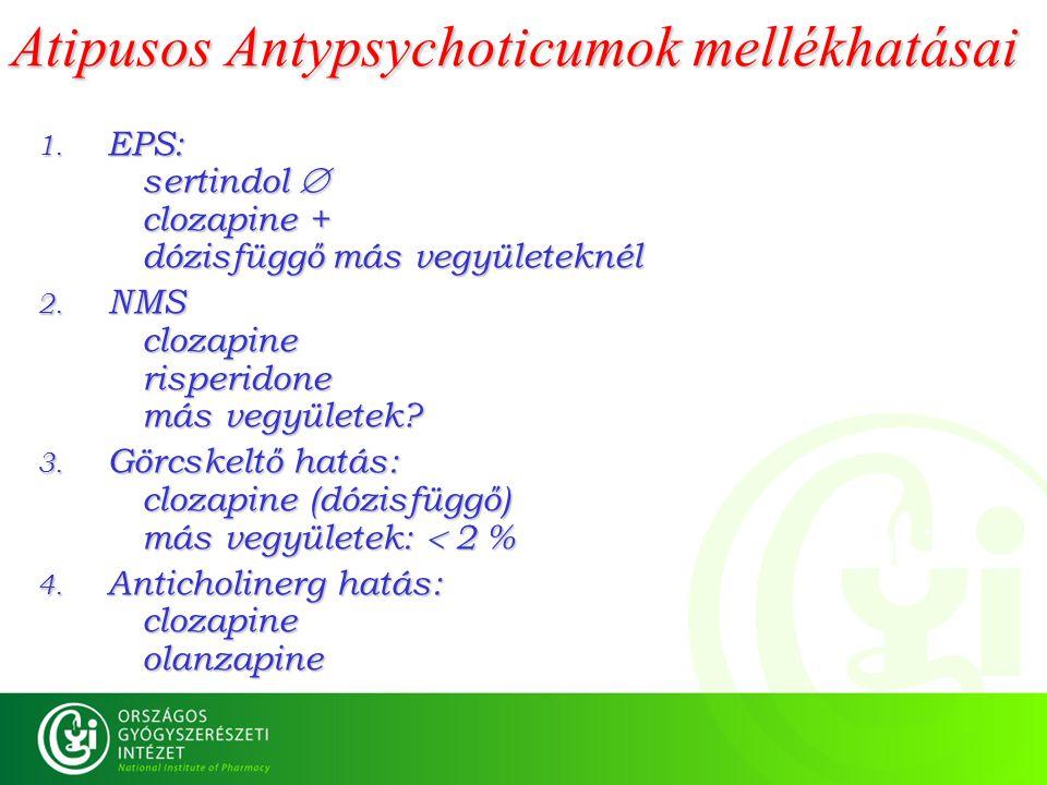 Atipusos Antypsychoticumok mellékhatásai