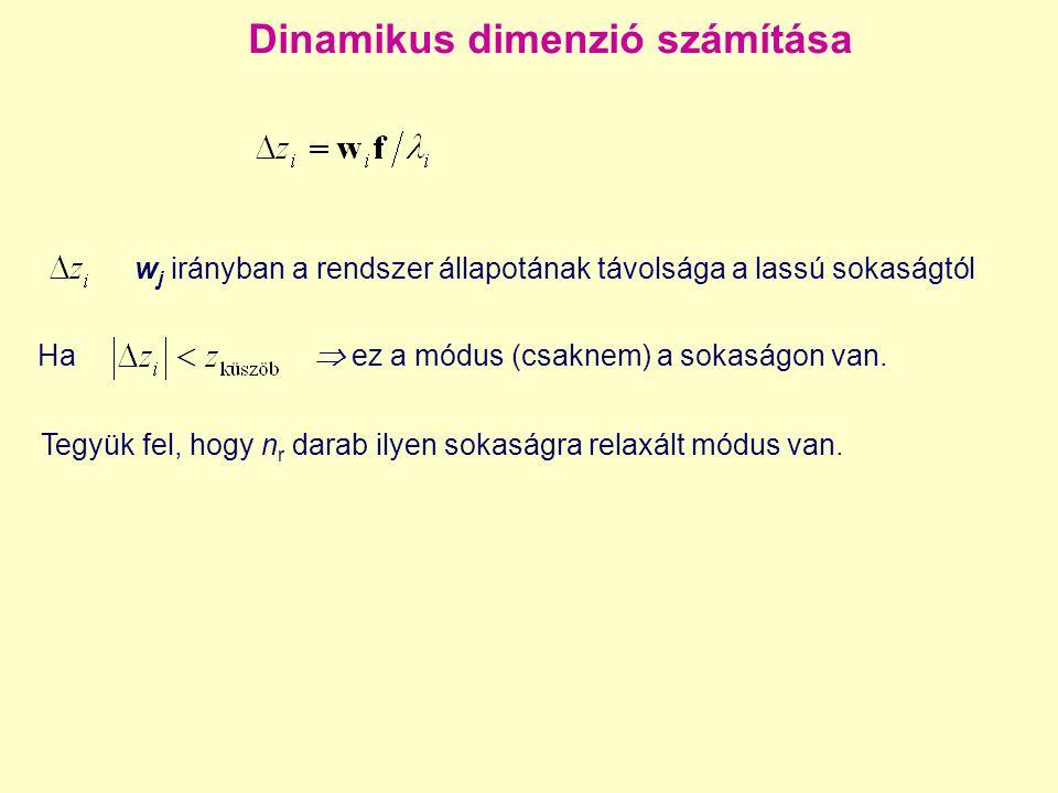 Dinamikus dimenzió számítása