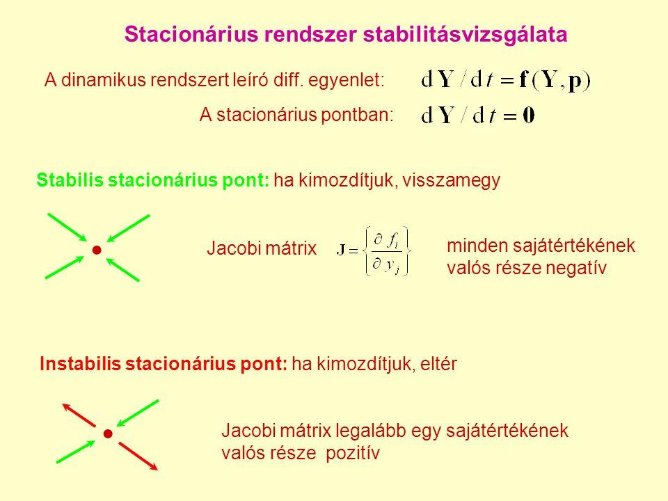 Stacionárius rendszer stabilitásvizsgálata