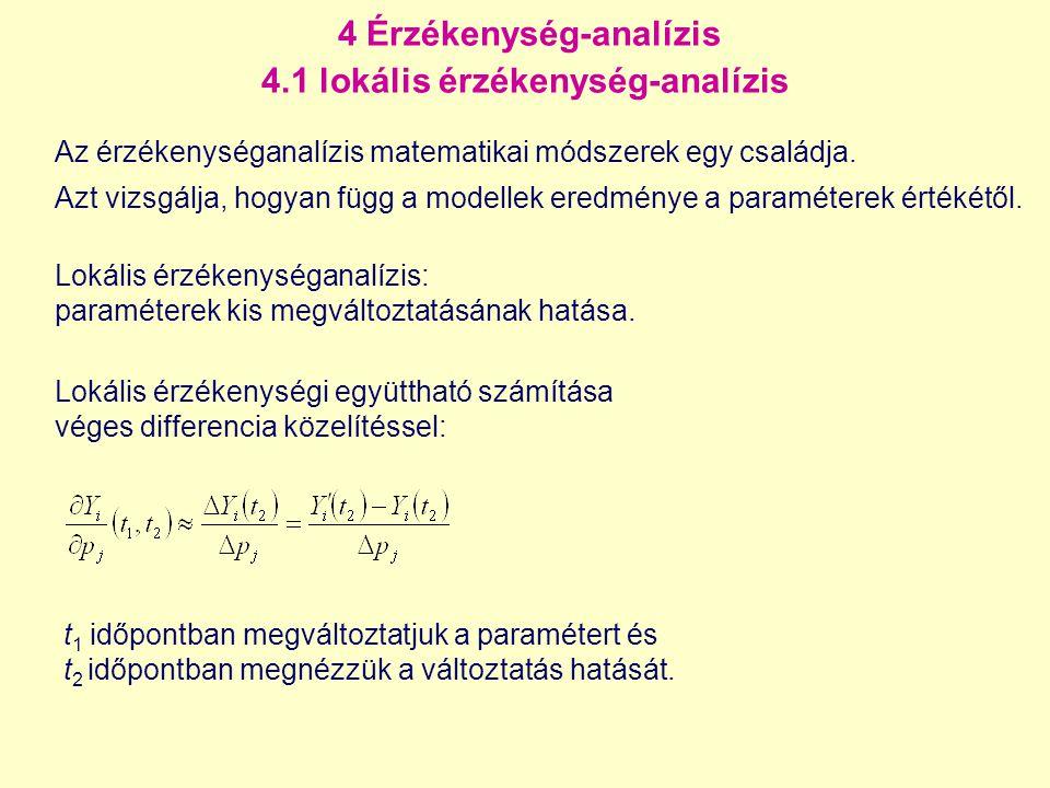 4 Érzékenység-analízis 4.1 lokális érzékenység-analízis