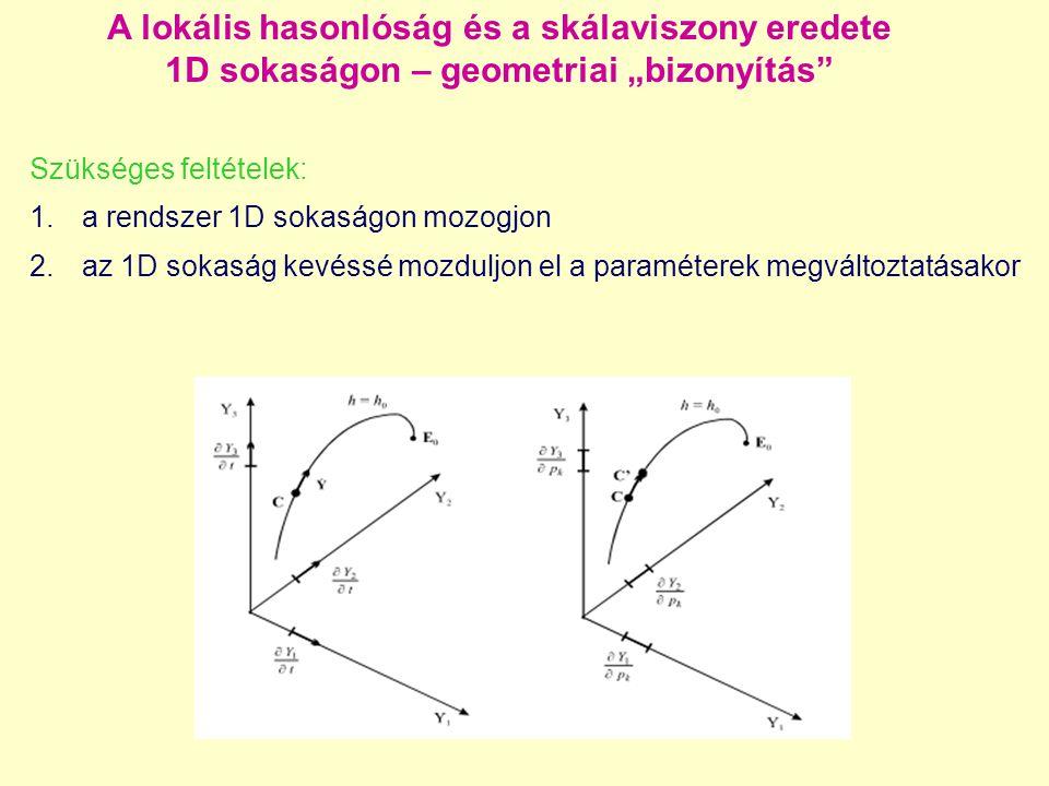 """A lokális hasonlóság és a skálaviszony eredete 1D sokaságon – geometriai """"bizonyítás"""