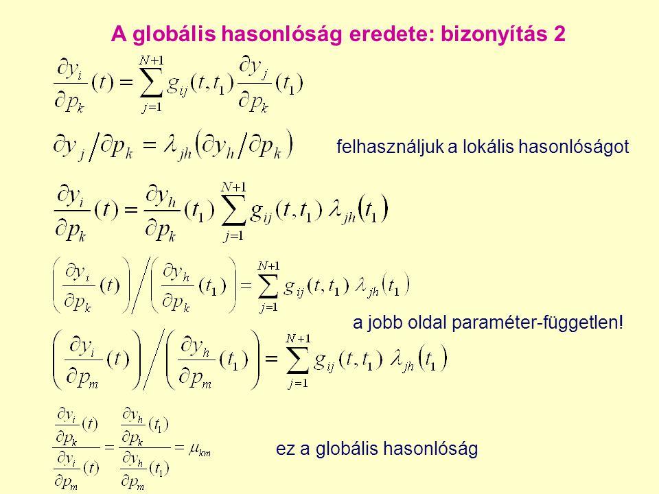 A globális hasonlóság eredete: bizonyítás 2