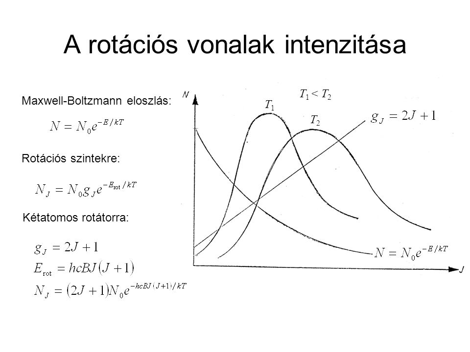 A rotációs vonalak intenzitása