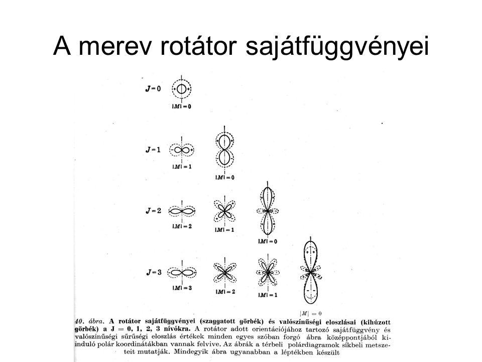 A merev rotátor sajátfüggvényei