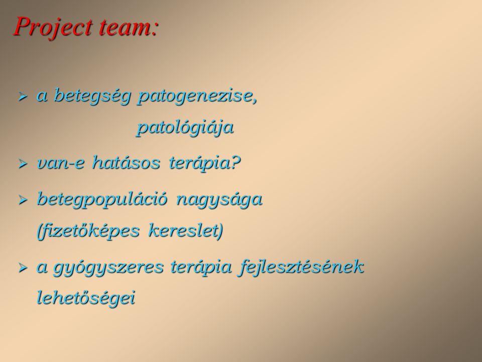 Project team: a betegség patogenezise, patológiája