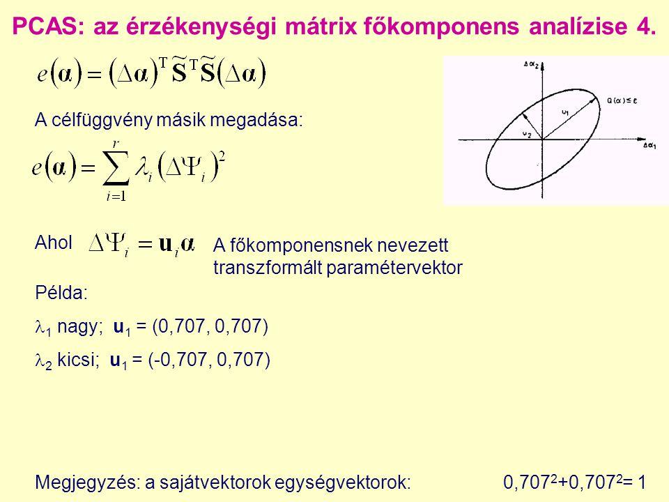 PCAS: az érzékenységi mátrix főkomponens analízise 4.
