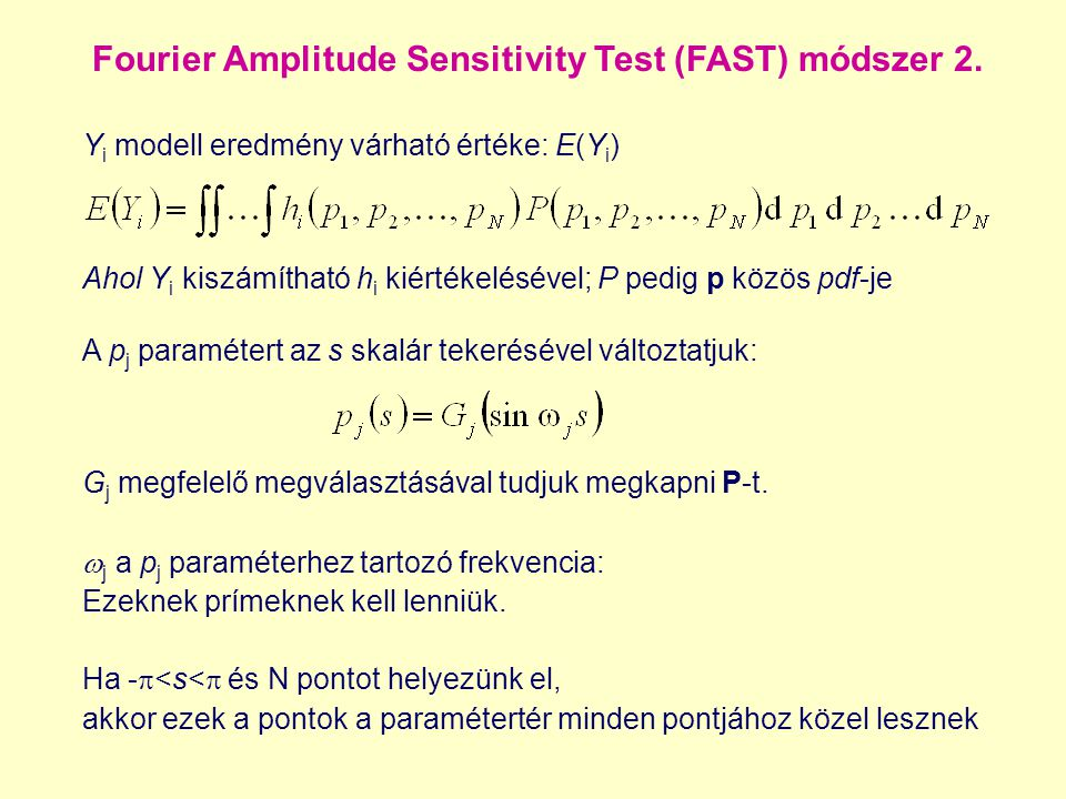 Fourier Amplitude Sensitivity Test (FAST) módszer 2.
