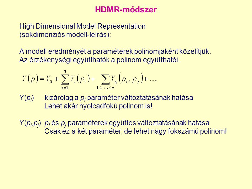HDMR-módszer High Dimensional Model Representation