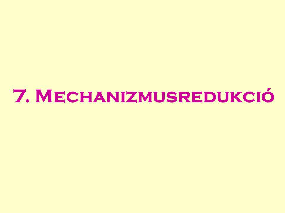 7. Mechanizmusredukció
