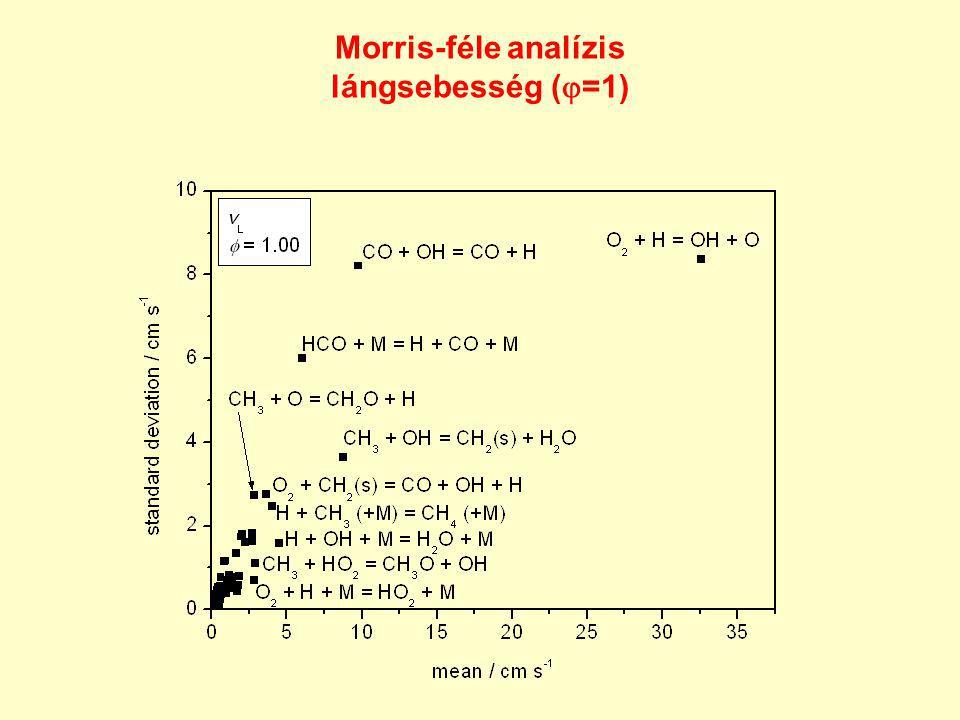 Morris-féle analízis lángsebesség (=1)