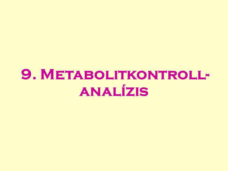9. Metabolitkontroll-analízis