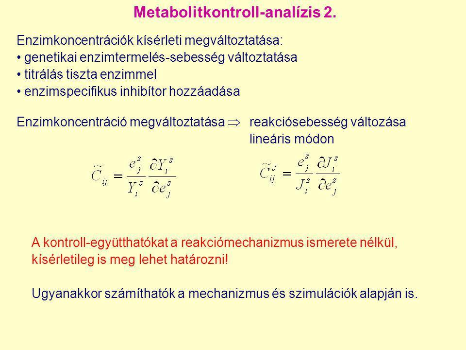 Metabolitkontroll-analízis 2.