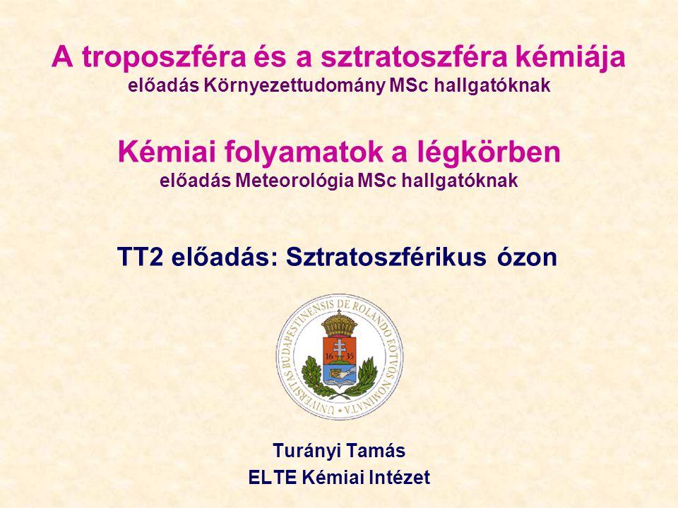 Turányi Tamás ELTE Kémiai Intézet