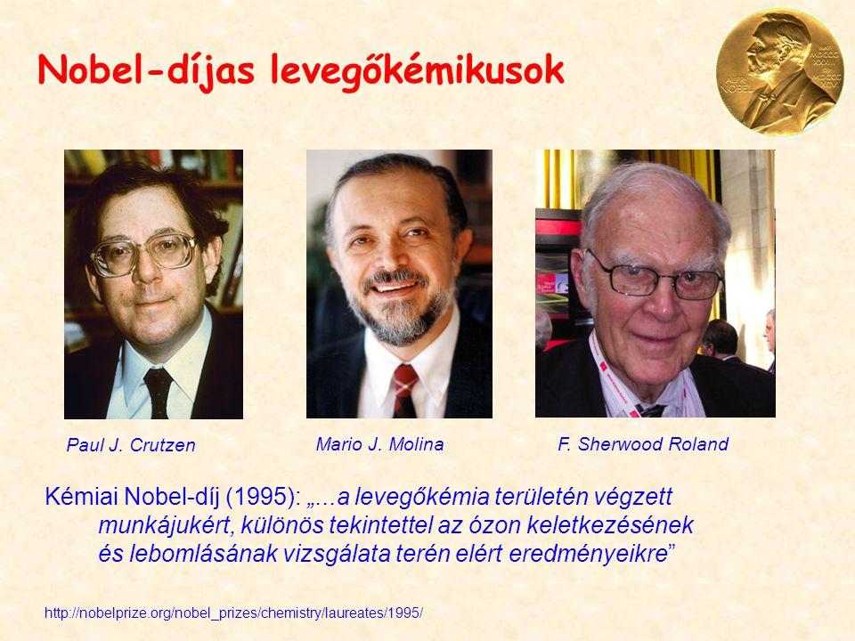 Nobel-díjas levegőkémikusok