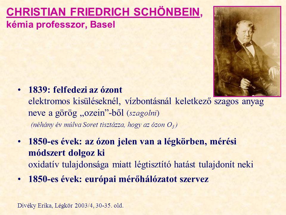 CHRISTIAN FRIEDRICH SCHÖNBEIN, kémia professzor, Basel