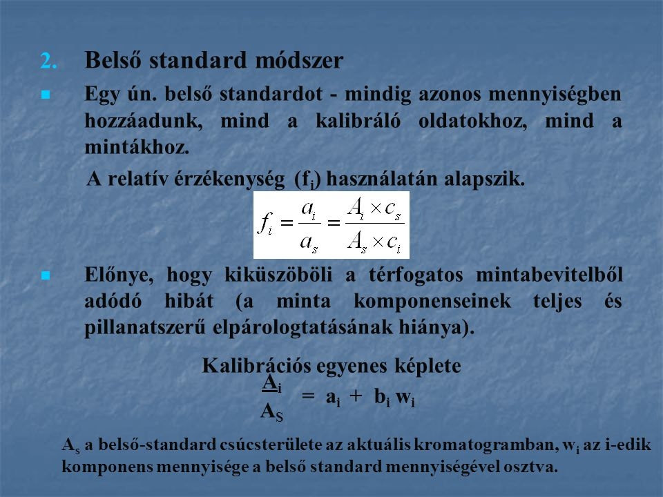 Belső standard módszer