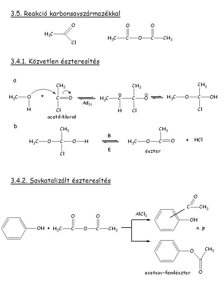3.5. Reakció karbonsavszármazékkal