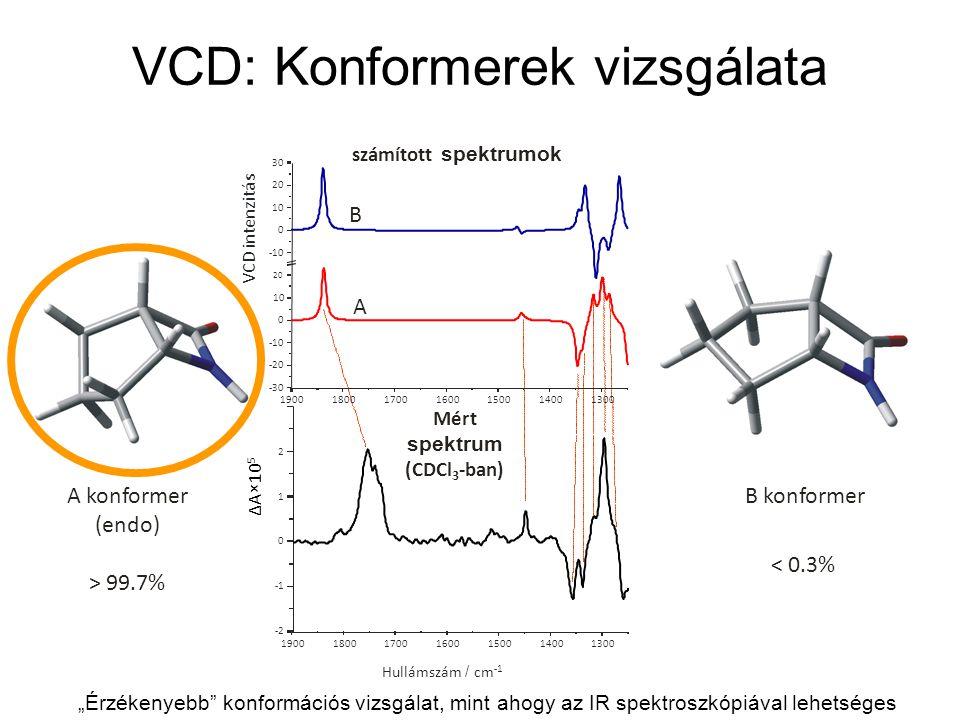 VCD: Konformerek vizsgálata