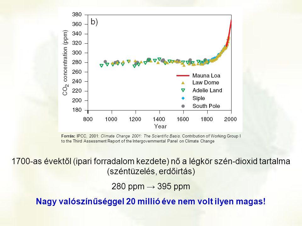 Nagy valószínűséggel 20 millió éve nem volt ilyen magas!