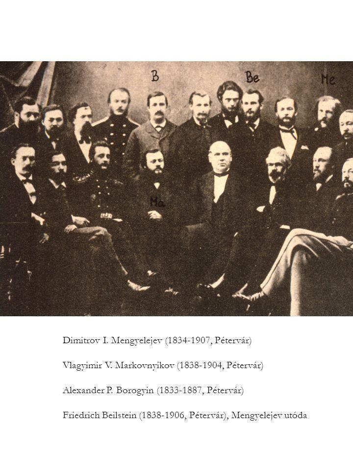 Dimitrov I. Mengyelejev (1834-1907, Pétervár)