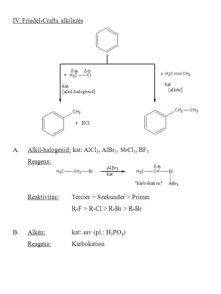 IV. Friedel-Crafts alkilezés